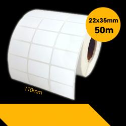 Giấy In Mã Vạch 3 Tem (35x22mm) (Cuộn 50 Mét)