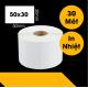 Giấy In Tem Trà Sữa (50x30 mm) (Cuộn 30 Mét)